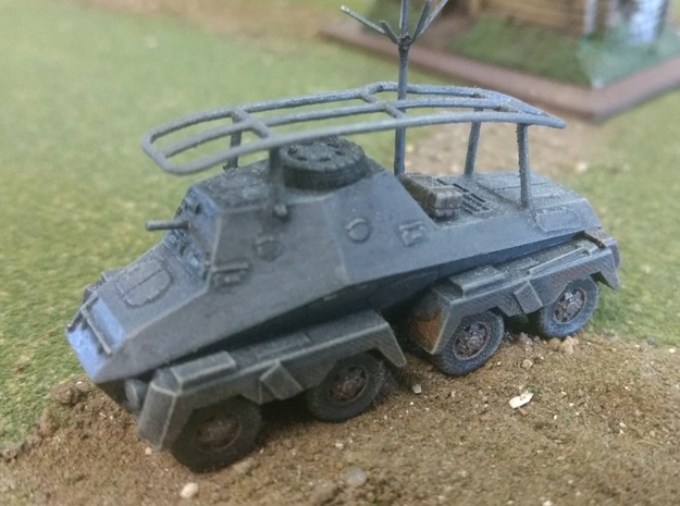 SdKfz 263, 15mm, 1/144 and TT scales in White Natural Versatile Plastic: 15mm