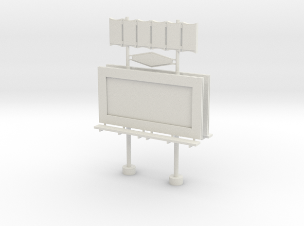 'HO Scale' - Movie Marquee in White Natural Versatile Plastic