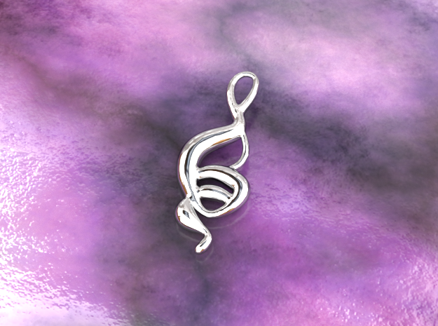 Dancing monkey  in Polished Silver