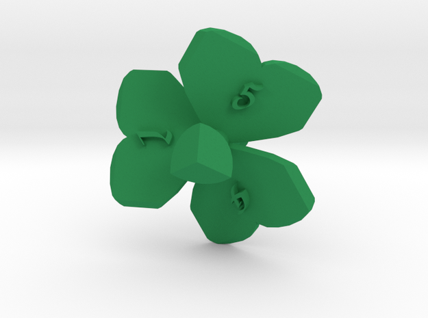 Shamrock d6 in Green Strong & Flexible Polished