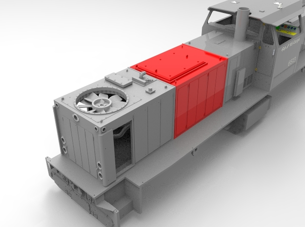 NS 6400 Motor huif. Scale 1 (1:32) in Smooth Fine Detail Plastic