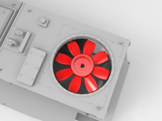 NS 6400 fan. Scale 1 (1:32) in Smooth Fine Detail Plastic