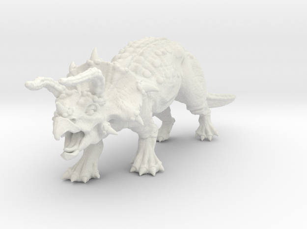 Ceratops in White Natural Versatile Plastic