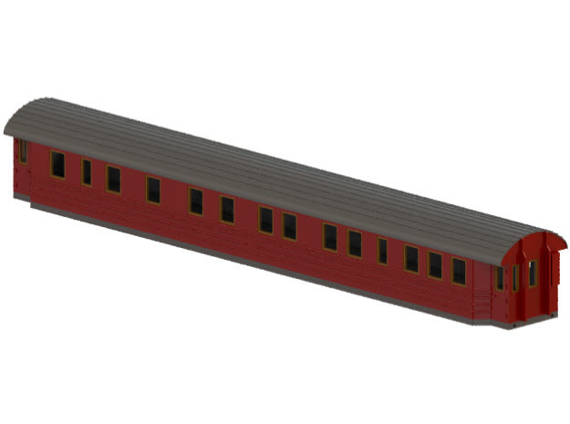 Ao3 - Swedish passenger wagon in White Natural Versatile Plastic