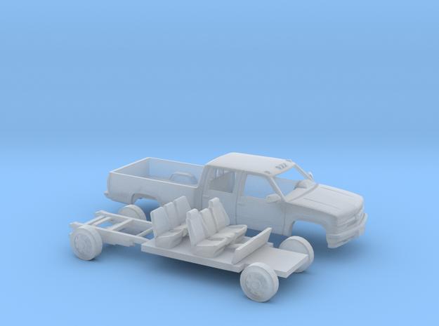 1/87 1994 Chevy Silverado CrewCab LongBed Kit in Smooth Fine Detail Plastic