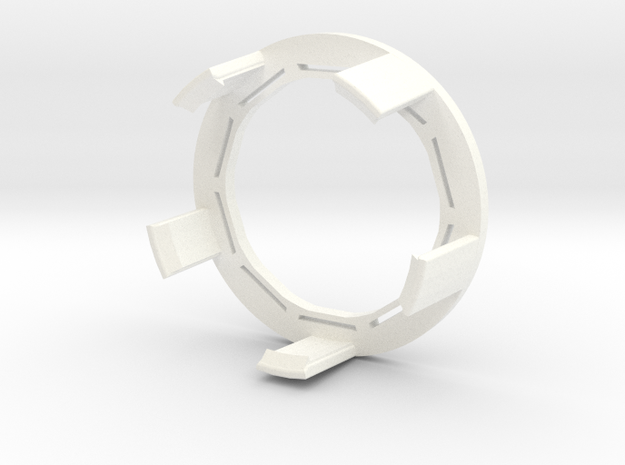 FlexRing for BluCon - No armband needed! in White Processed Versatile Plastic