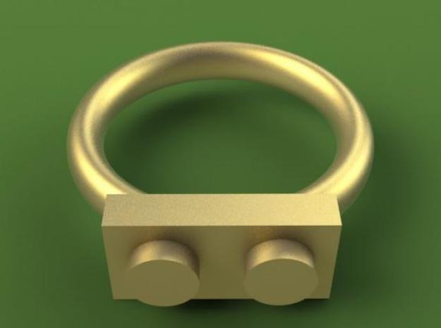 2 Block Lego Style Ring 3d printed