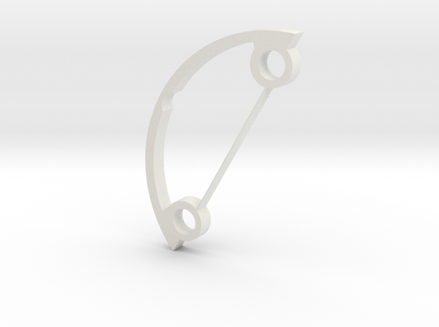 Frame/card holder for 31.5mm fancy chassis in White Natural Versatile Plastic