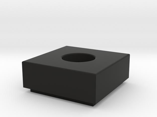 1x1 Tile w/ Bar Hole in Black Natural Versatile Plastic