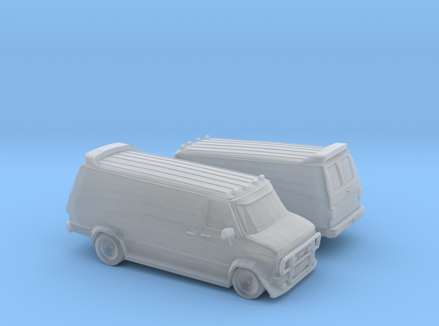 1/200 2X GMC Vandura Van in Smooth Fine Detail Plastic