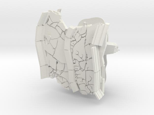 highway Taype A terrain model in White Natural Versatile Plastic
