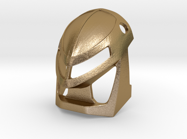 [Metal] Kanohi Miru in Polished Gold Steel