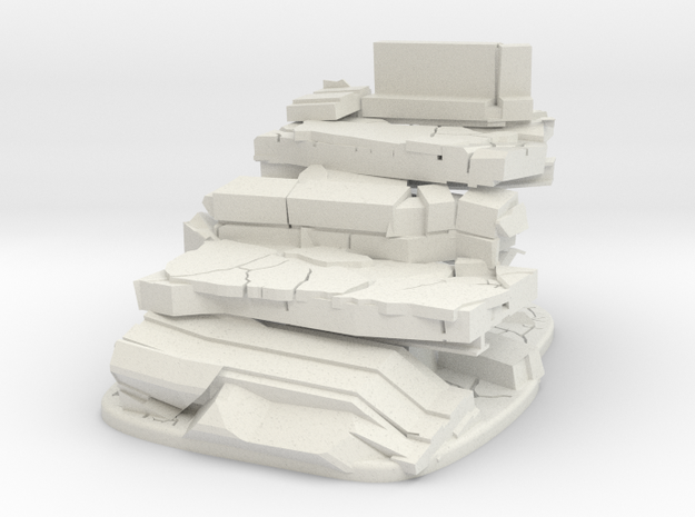 highway Type C terrain model in White Natural Versatile Plastic