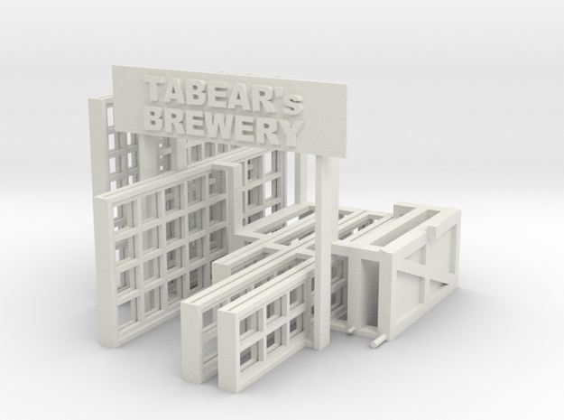Brewery Windows in White Natural Versatile Plastic