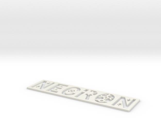 Necron Bookmark in White Natural Versatile Plastic: Small