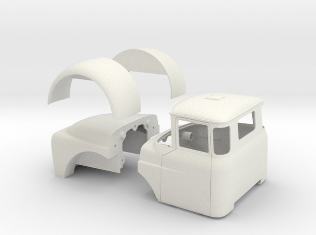 DAF-Torpedo-dash in White Natural Versatile Plastic