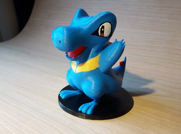 Totodile Pokémon Miniature in White Natural Versatile Plastic
