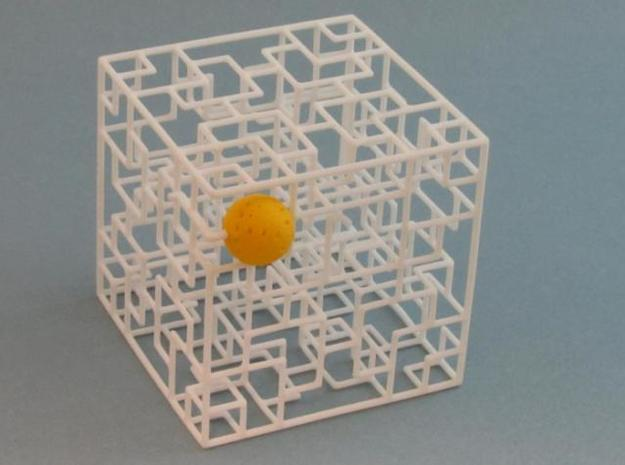Twisted Symmetry 3d printed with ball at exit