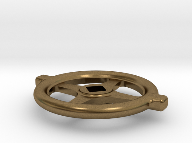 """1.1"""" scale South African Large Valve Handwheel in Natural Bronze"""