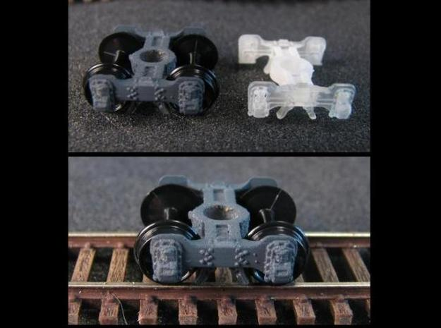 T95p 8 N scale short Fox truck, pin mount 3d printed