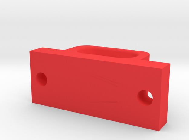 Fairlead for Servo Winch - Bumper Mounted in Red Strong & Flexible Polished