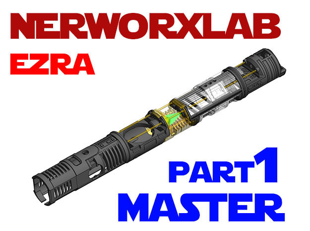 NWL Ezra - Master Part1 Lightsaber Chassis in White Natural Versatile Plastic