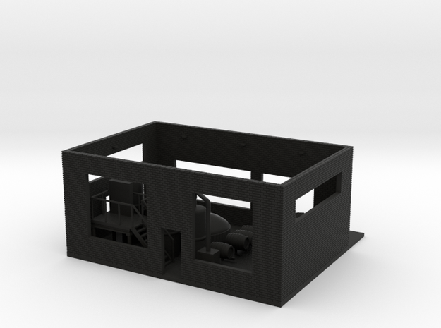 Brewery Ground Height Dock - No Roof in Black Natural Versatile Plastic