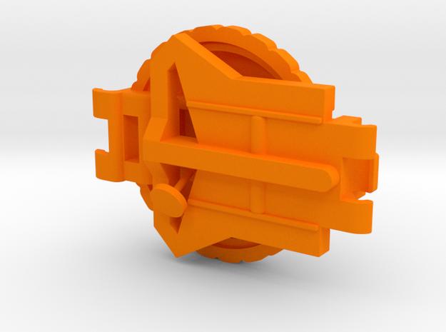 Starcom Shadow Blast Track Turret decklid and cont in Orange Processed Versatile Plastic