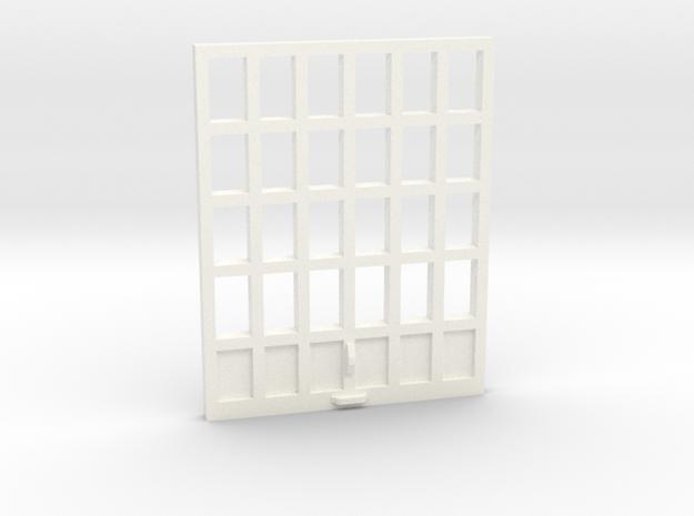 Garage Doors Vintage Gas Station in White Processed Versatile Plastic: 1:64 - S