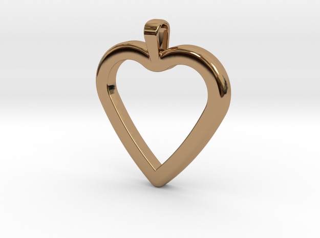 Classic Heart Pendant in Polished Brass