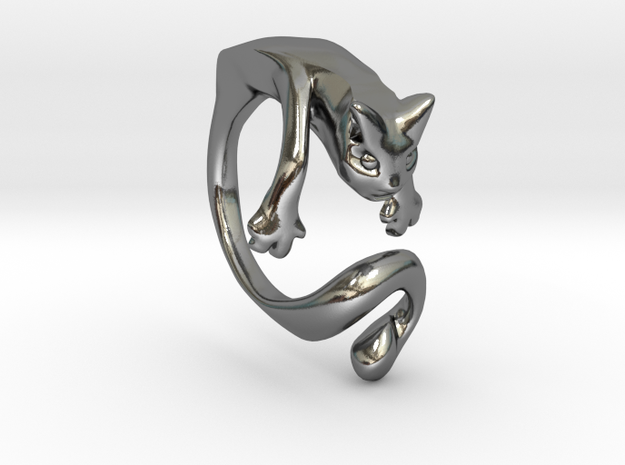 Wiskers GATO in Polished Silver: 10 / 61.5