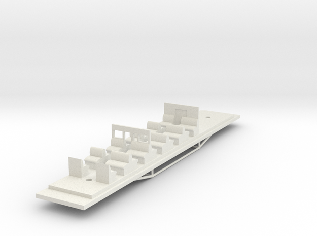 BCPL Chassis - Victorian Railways BCPL Carriage Ch in White Natural Versatile Plastic