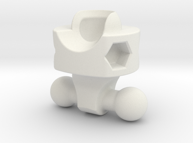 Belted Hip for ModiBot in White Natural Versatile Plastic