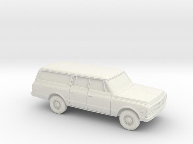 1/87 1967-72  GMC Suburban Caryall in White Natural Versatile Plastic