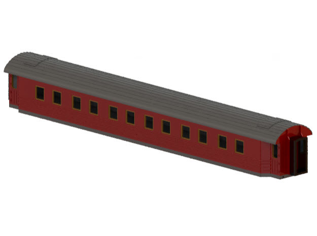 ACo6 - Swedish passenger wagon in Smooth Fine Detail Plastic