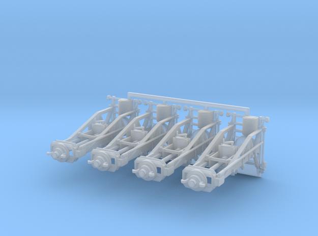 1/87th (H0) scale Wagon Lifting Jacks (4 pcs)