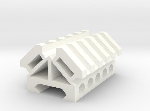 Picatinny rail splitter to 2 - 5 slot triangle