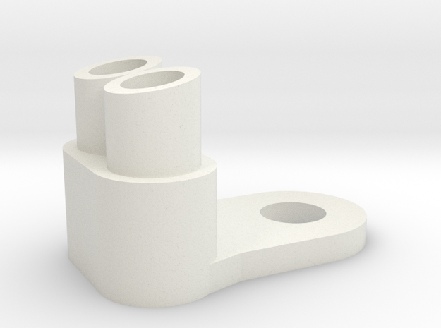 Slash Cut Dual Exhaust in White Natural Versatile Plastic