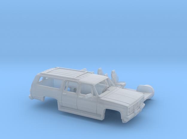 1/160 1981-88 GMC Suburban Splitt Door Kit in Smooth Fine Detail Plastic