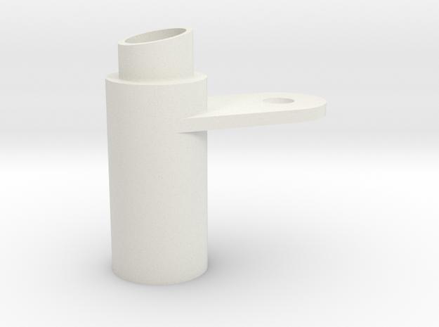 Full Slash Cut Exhaust in White Natural Versatile Plastic