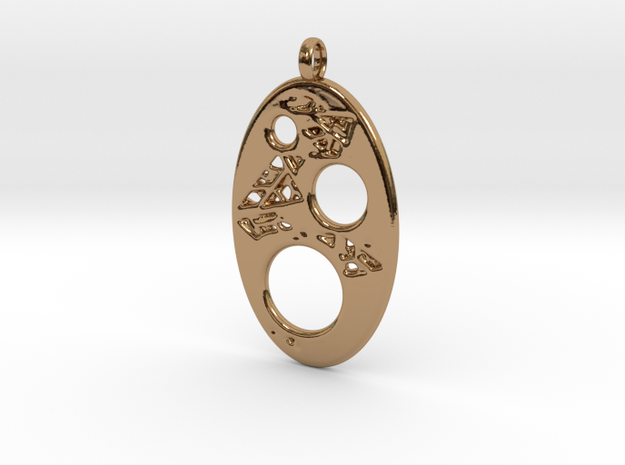 Oval 4 Pendant in Polished Brass