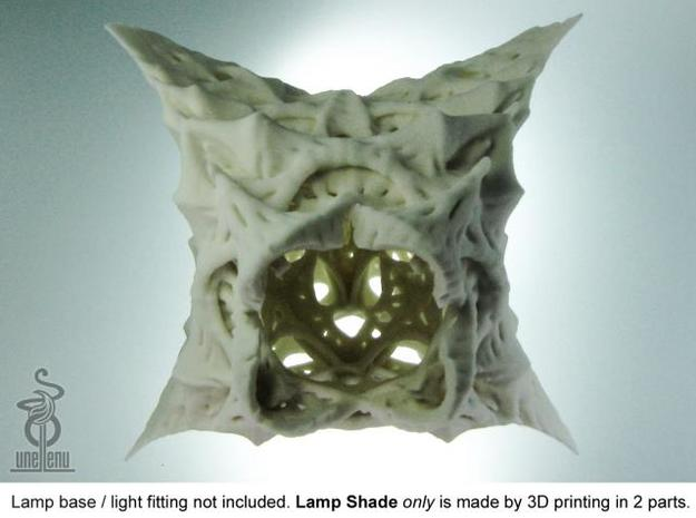 Lichenfan : Part A of the lamp shade 3d printed