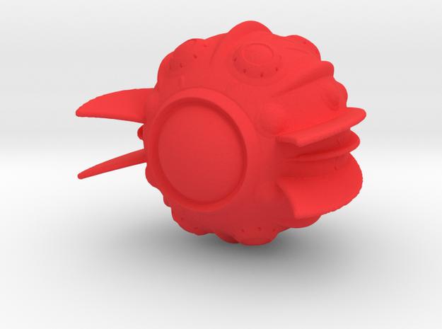 Kzin Heavy Attack Ship in Red Processed Versatile Plastic