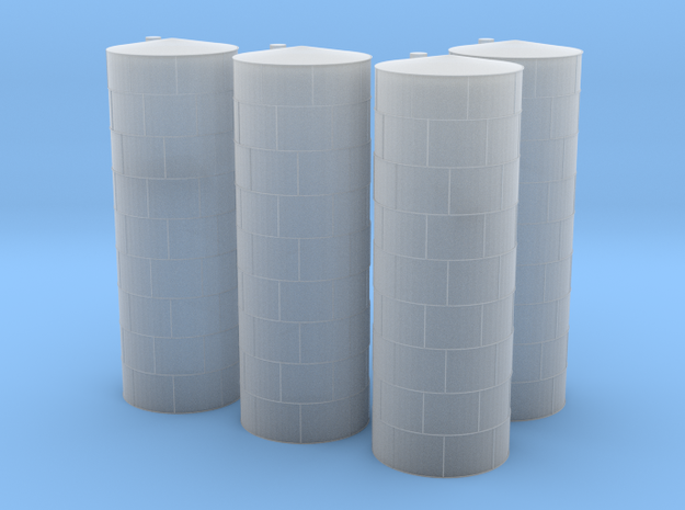 Vertical Fuel or Chamical Tanks in Smooth Fine Detail Plastic