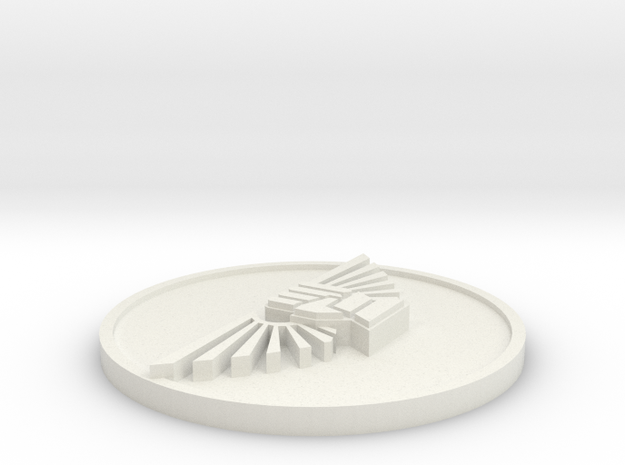 32mm Fist and wing roundel in White Natural Versatile Plastic