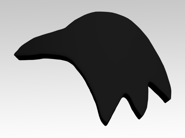 Raven Shoulder Icons x50 in Smooth Fine Detail Plastic