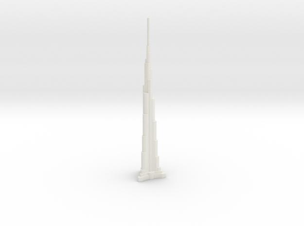 Burj Khalifa - Dubai (1:6000) in White Natural Versatile Plastic