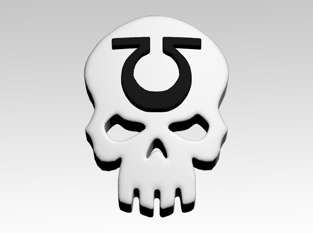 Skull 4 Shoulder Icons x50 in Smooth Fine Detail Plastic