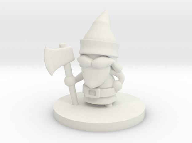 Gnome Forester in White Natural Versatile Plastic