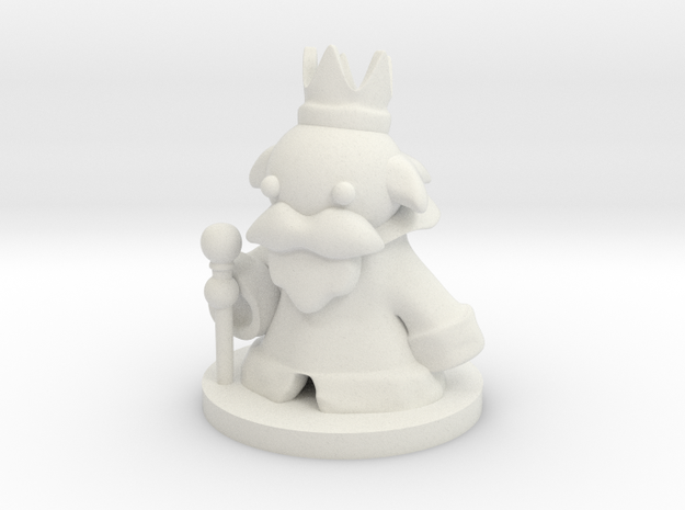 King (Beta) in White Natural Versatile Plastic